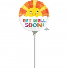 Get Well Party Decorations - Foil Balloon Smiley Sunshine