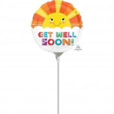 Get Well Smiley Sunshine Foil Balloon