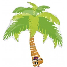 Hawaiian Luau Summer Scene SuperShape XL Palm Tree Shaped Balloon