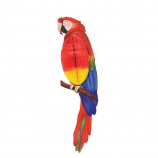 Hawaiian Luau Summer Luau Parrot Honeycomb Hanging Decoration