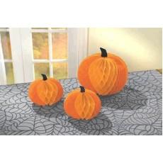 Halloween Honeycomb Pumpkin Centrepieces