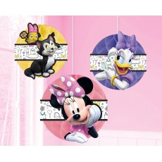 Minnie Mouse Happy Helpers Honeycomb Hanging Decorations 15cm Pack of 3