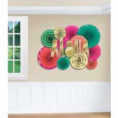 Hawaiian Luau Aloha Deluxe Fans & Cutouts Decorating Kits