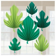 Hawaiian Luau Palm Leaves Fan Hanging Decorations