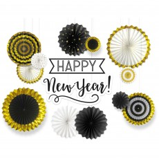 Deluxe Fans Backdrop Happy New Year Hanging Decoration