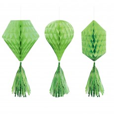 Green Kiwi Mini Honeycomb Hanging Decorations