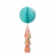 Blue Pastel Honeycomb Ball Hanging Decoration
