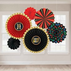 Casino Party Decorations - Hanging Decorations Roll The Dice Paper Fan