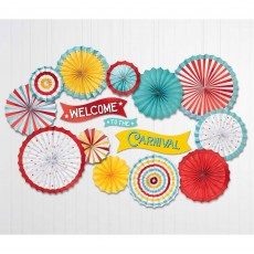 Disney Mickey Carnival Party Decorations - Paper Fans & Cutouts Kit