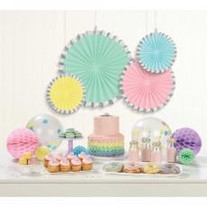 Pastel Celebration Party Decorations - Hanging Decorations