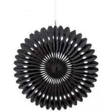 Black Fan Hanging Decoration 40cm
