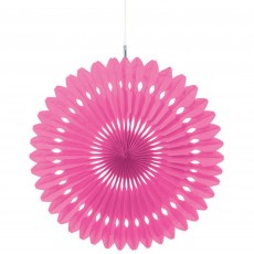 Bright Pink Fan Hanging Decoration