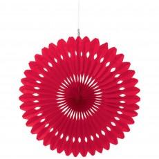 Apple Red Fan Hanging Decoration 40cm