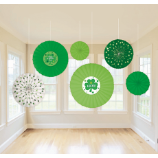 St Patrick's day Soft Colours Paper Fan Hanging Decorations