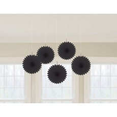 Black Mini Fan Hanging Decorations