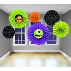 Halloween Card Fan Hanging Decoration