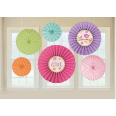 Tweet Baby Girl Paper Fans Hanging Decorations