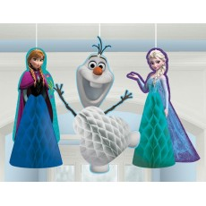 Disney Frozen Fluffy Honeycomb Hanging Decorations Pack of 3