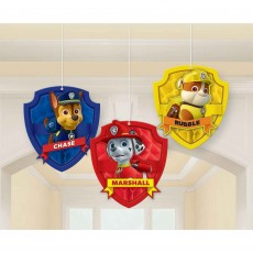 Paw Patrol Honeycomb Hanging Decorations 17cm Pack of 3
