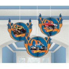 Hot Wheels Wild Racer Honeycomb Hanging Decorations