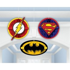 Justice League Honeycomb Hanging Decorations Pack of 3