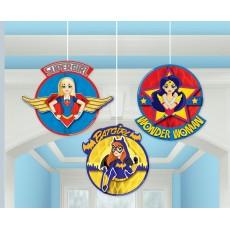 Super Hero Girls Honeycomb Hanging Decorations