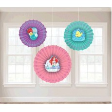 The Little Mermaid Ariel Dream Big Fan Hanging Decorations Pack of 3