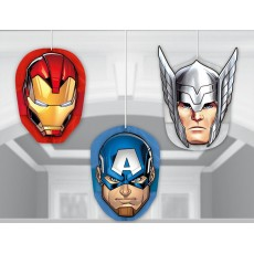 Avengers Epic Honeycomb Hanging Decorations Pack of 3