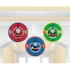 Thomas & Friends All Aboard Honeycomb Hanging Decorations 18.4cm Pack of 3