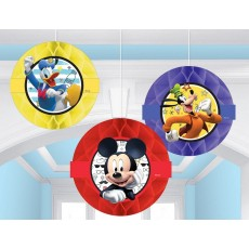 Mickey Mouse On The Go Honeycomb Hanging Decorations 23cm Pack of 3