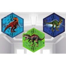 Jurassic World Honeycomb Hanging Decorations 17.7cm Pack of 3
