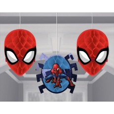 Spider-Man Webbed Wonder Honeycomb Hanging Decorations Pack of 3