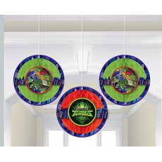 Rise of the Teenage Mutant Ninja Turtles Honeycomb Hanging Decorations 22cm Pack of 3