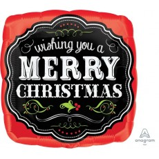 Christmas Standard HX Chalkboard Foil Balloon
