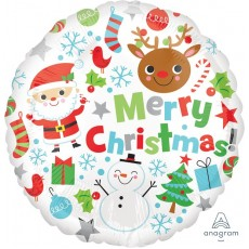 Christmas Standard HX  Icons Foil Balloon