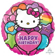 Hello Kitty Standard HX Rainbow Foil Balloon