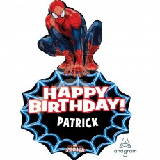 Spider-Man SuperShape XL Personalised Shaped Balloon