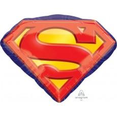 Superman Party Decorations - Shaped Balloon Super XL Superman Emblem