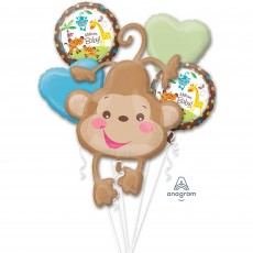 Fisher Price Hello Baby Bouquet Baby Monkey Foil Balloons
