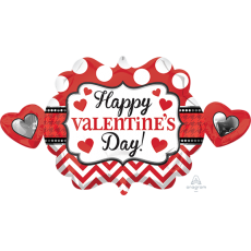 Valentine's Day SuperShape XL Heart Marquee Shaped Balloon