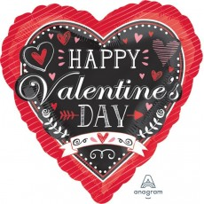 Valentine's Day Standard HX Chalkboard Shaped Balloon