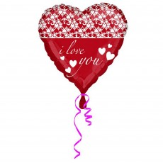 Love Red Infinity Hearts Foil Balloon