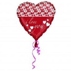 Love Standard HX Infinity Hearts Shaped Balloon