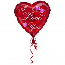 Love Red Radiating Foil Balloon