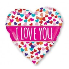 Love ColourBlast XL Pink Banner Shaped Balloon