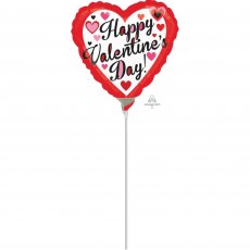 Valentine's Day Black & Red  Shaped Balloon