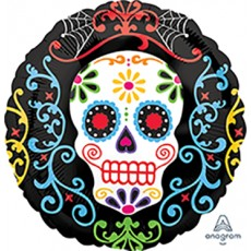 Halloween Day of the Dead Standard Foil Balloon