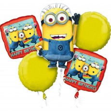 Minions Despicable Me Bouquet Foil Balloons Pack of 5