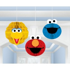 Sesame Street Honeycomb Hanging Decorations Pack of 3