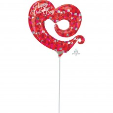 Valentine's Day Red Mini Shape Swirly Open Heart Shaped Balloon